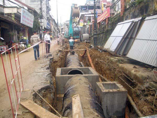 Dự án đầu tư Cơ sở hạ tầng nông thôn tỉnh Lào Cai – Tiểu hợp phần thoát nước và xử lý nước thải thị trấn Sa Pa.